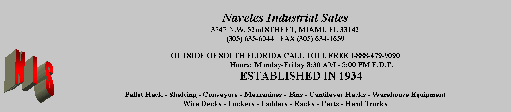Naveles Industrial Sales