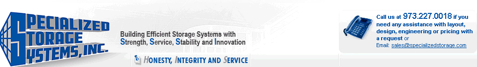 Specialized Storage Systems, Inc. | Building Efficient Storage Systems with Strength, Service, Stability and Innovation