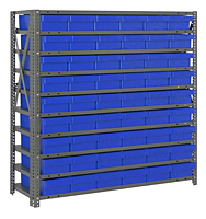 Blue 1239-401 Open Steel Shelving Systems