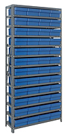 Blue 1275-701 Open Steel Shelving Systems