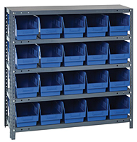Blue 1839-204 Steel Shelving Systems