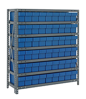 Blue 1839-604 Open Steel Shelving Systems