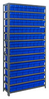 Blue 1875-624 Open Steel Shelving Systems
