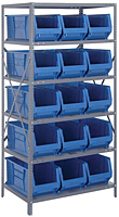 Blue 2475-953 24 in. Steel Shelving Systems