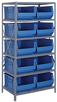 Blue 2475-954 24 in. Steel Shelving Systems