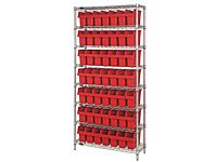 Quantum Store-Max 8 Inch (in) Wire Shelving with Shelf Bin