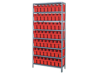 Quantum Store-Max 8 Inch (in) Steel Shelving with Shelf Bin