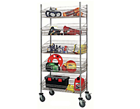 Quantum Mobile 5 Chrome Post Basket Work Carts