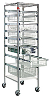 Quantum Partition Store Pull Out Basket Work Carts