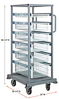 Quantum Partition Store Single Bay Work Carts - 2