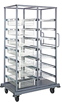 Quantum Partition Store Double Bay Work Carts