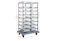 Quantum Partition Store Double Bay Work Carts - 2