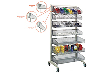 Quantum Partition Wall Hanging Basket Shelving - 2