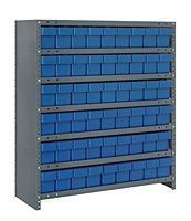 Blue CL1839-604 Closed Steel Shelving Systems