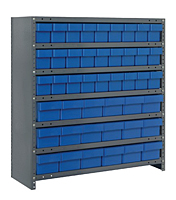 Blue CL1839-624 Closed Steel Shelving Systems
