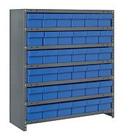Blue CL2439-603 Closed Steel Shelving Systems