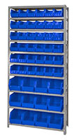 Blue QSBU-230240 Steel Shelving Units