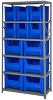 Blue QSBU-600800 Steel Storage Centers