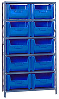 Blue QSBU-700 Steel Storage Centers