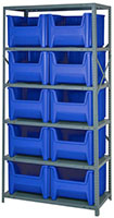 Blue QSBU-800 Steel Storage Centers