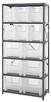 Clear QSBU-600800CL Steel Shelving