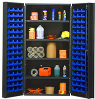 Blue Bins for QSC-36-96-4IS 36 in. Wide All Purpose Cabinets