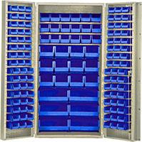 Blue Bins for QSC-BG-36 36 in. Wide All Purpose Cabinets
