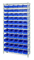 Blue WR12-102 Wire Shelving Units