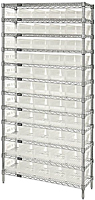 Clear WR12-102CL Wire Shelving Systems