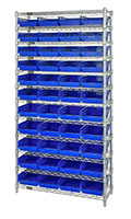 Blue WR12-107 Wire Shelving Units