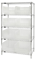 Clear WR5-955CL Wire Shelving Systems