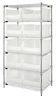 Clear WR6-954CL Wire Shelving Systems