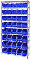 Blue WR9-202 Wire Shelving Systems