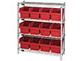 Quantum Store-Max 8 Inch (in) Shelving with Complete Bin