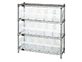 Quantum Clear-View Shelving with Complete Bin