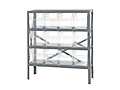 Quantum Clear-View Store-Max 8 Inch (in) Steel Shelving with Shelf Bin
