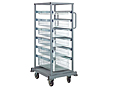 Quantum Partition Store Single Bay Work Carts