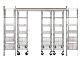 Quantum High Density Sliding Overhead Track Wire Shelving